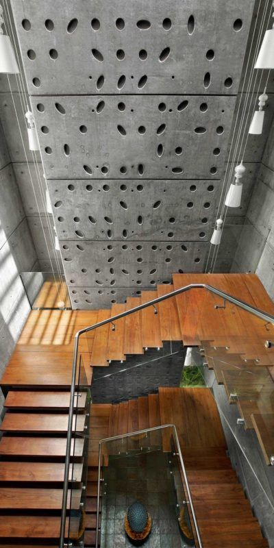 Best Concrete Stairs Interior Staircases Ideas Exterior Wall | Staircase Exterior Wall Design | Commercial | Entrance Ceiling | Interior | Modern | Boundary Wall