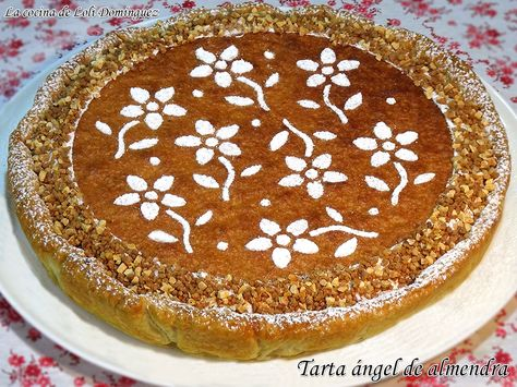 Tarta ángel de almendra, mi combinación favorita de ingredientes, hojaldre, cabello de ángel y tarta de almendra. (Si te gustan mis recetas dale a ME GUSTA y comparte) Receta en mi Blog: https://lacocinadelolidominguez.blogspot.com.es/2017/03/tarta-angel-de-almendra.html  Videoreceta en You Tube: https://www.youtube.com/watch?v=5GaQYcQXhp8
