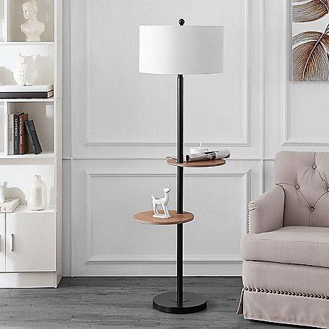 Safavieh Kelsen Floor Lamp On Sale At Shophq Com In 2021 Floor Lamp With Shelves Black Floor Lamp Cool Floor Lamps Living room lamps for sale