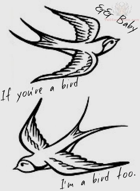 Flying Swallow Birds Tattoo Design