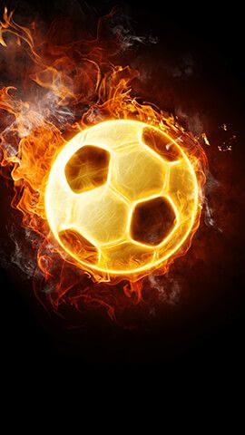 Flaming Football Football Wallpaper Sports Wallpapers Soccer Ball