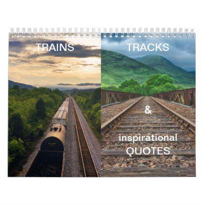 Trains Tracks Gorgeous Landscapes 12 Month Calendar Zazzle Com In 2020 12 Month Calendar Landscape Landscape Concept
