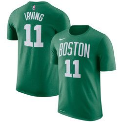 huge selection of 35bc9 ee3fc Boston Celtics Nike Kyrie Irving Name & Number T-Shirt ...