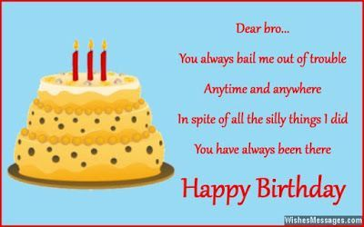 Happy Birthday Brother Birthday Wishes For Younger Brother From