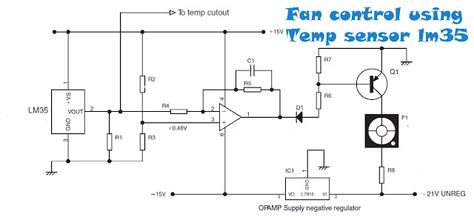 pinterestfan control temperature using sensor lm35