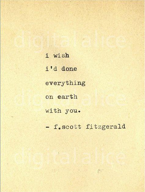 VINTAGE TYPEWRITER PRINT f Scott Fitzgerald Gatsby by DigitalAlice