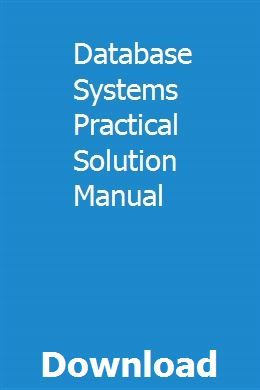 Database Systems Practical Solution Manual Owners Manuals Manual Harley Davidson Nightster