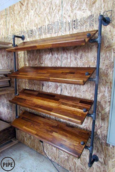 Wood Shoe Rack 3 Shelf Shoe Rack Shelf Display Wood Shoe Storage Clothes Storage Industrial Pipe Shoe Rack Reclaimed Wood Organizer