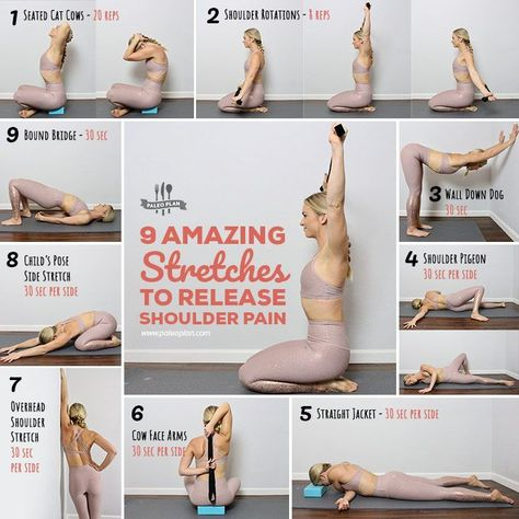 Fix achy shoulder pain with these feel-good stretches you can do anywhere. Get all exercises here