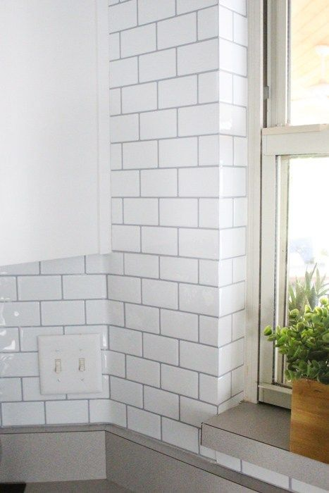 Using Self Adhesive Wall Tile For Our Kitchen Backsplash Within