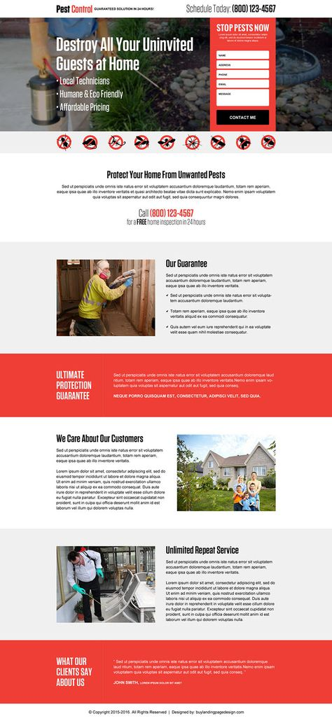 pest-control-for-home-responsive-lp-003 | Pest Control Landing Page Design preview.
