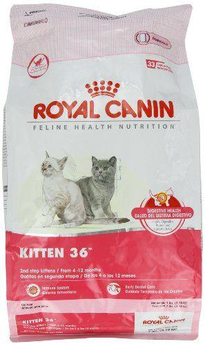Royal Canin Dry Cat Food Kitten 36 Formula 7 Pound Bag Listing Price 30 99 Now 26 99 Kitten Formula Dry Cat Food Royal Canin
