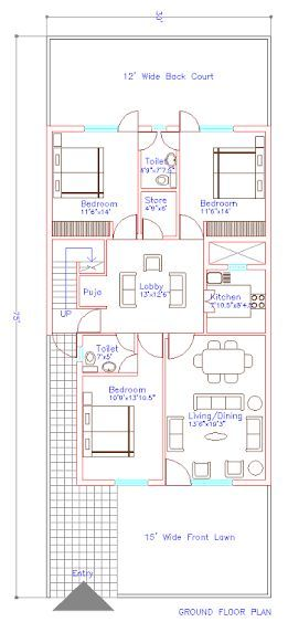 44 Ideas Dream House Plans Pakistan Free House Plans Narrow House Plans Indian House Plans