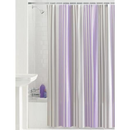 Mainstays Max Stripe PEVA Shower Curtain