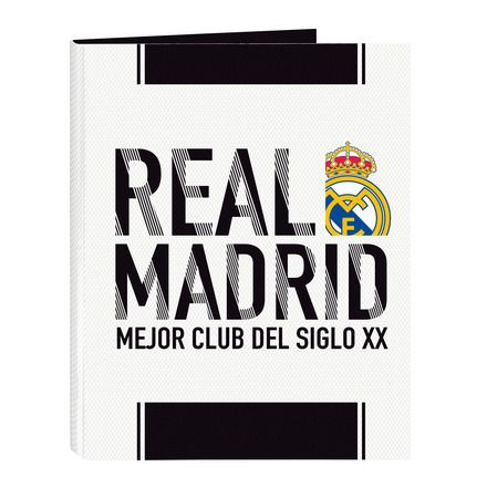 Carpeta Carton Folio 4 Anillas Mixtas Real Madrid Safta Carpeta