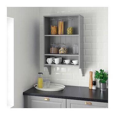 Tornviken Grey Wall Shelf Width 60 Cm Ikea Shelves Wall Shelves Open Kitchen Shelves