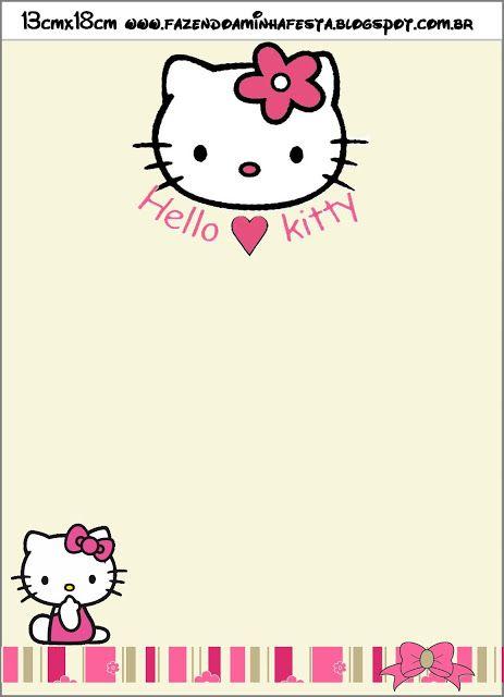 Free Printable Hawaiian Hello Kitty Invitations Hello Kitty Invitations Hello Kitty Printables Hello Kitty