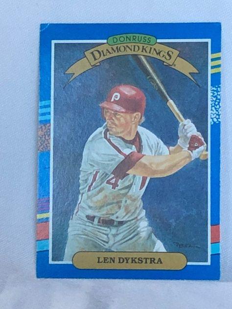 Philadelphia Phillies Lenny Dykstra 1990 Diamond Kong's Card number 7