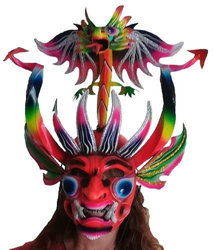 Karnevalsmaske Puno Peru Handgefertigt Karneval Maske