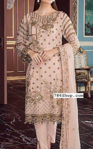 e018980c238 Peach Chiffon Suit | Buy Flossie Fashion Dress | Designer DRESSES ...