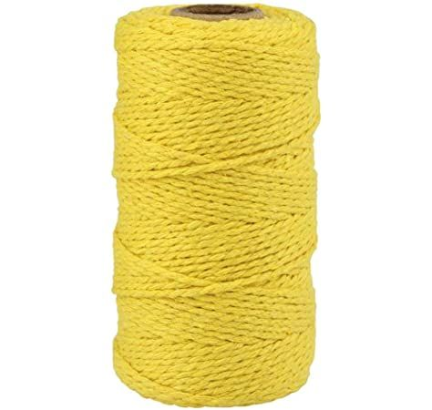 3 X Bola Hilo Cuerda de Algodón Cuerda Decoración De Regalo De Tarjeta Wrap cinta de chatarra 180M