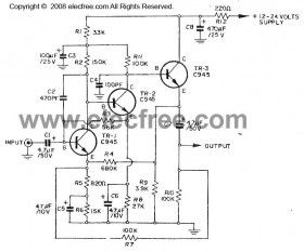 Dynamic Microphone Preamplifier circuit using C945 | predzesik. on