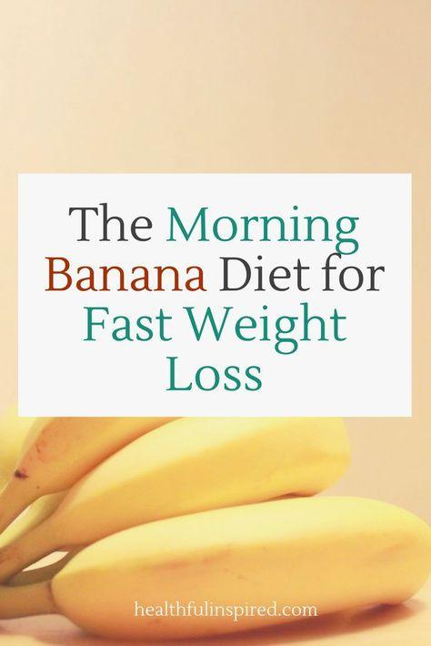 Diät mit Banane, um Gewicht zu verlieren