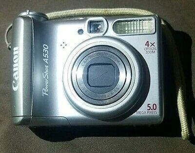 Canon Powershot A530 5 0mp Digital Camera Silver Digital Camera Camera Powershot
