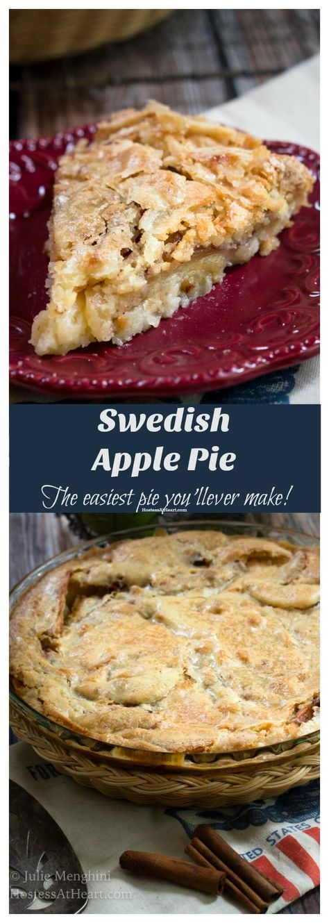 This Swedish Apple Pie recipe is simple and easy to make. It has never failed to be delicious. Try it now! #swedishapplepie#swedishapplepierecipes#swedishapplepiesimple