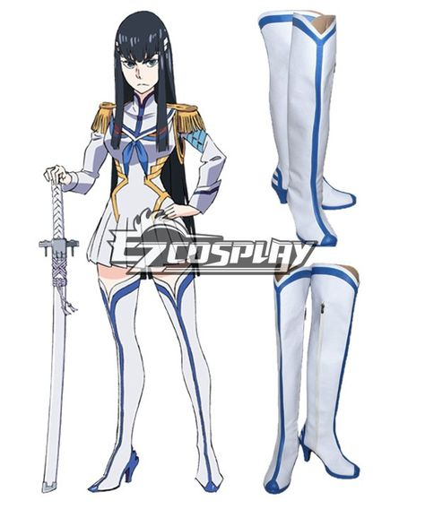 EZcosplay.com offer finest quality KILL la KILL Satsuki Kiryuin White Shoes Cospaly Boots and other related cosplay accessories in low price. Reliable and professional China wholesaler where you can buy cosplay costumes and drop-ship them anywhere in the