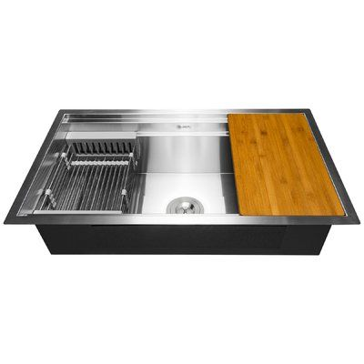Akdy Space Saving 25 X 22 Undermount Kitchen Sink With Basket
