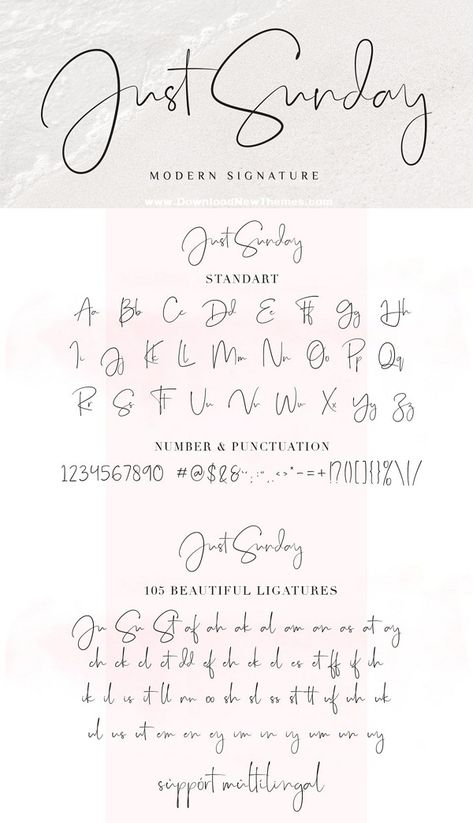 Just Sunday - Modern Feminine Font