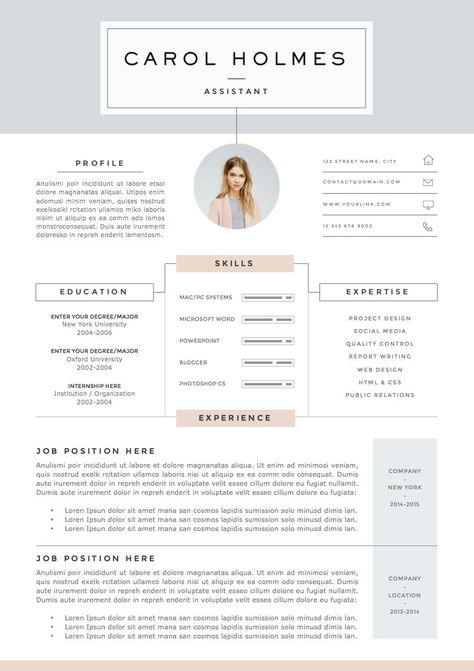 5 Page Modèle De Cv Et Lettre De Motivation Références
