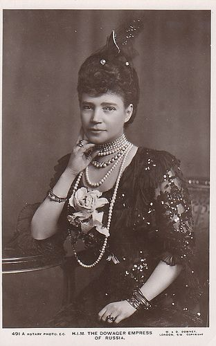 Dowager Empress Marie Feodorovna (younger sister of Queen Alexandra)
