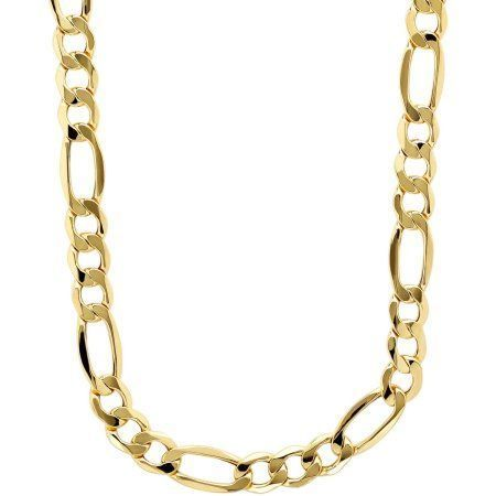 Simply Gold Men S 10kt Yellow Gold 7 55mm Figaro Chain 22 Jewelry Chains For Men Gold Chains For Men Gold Chains