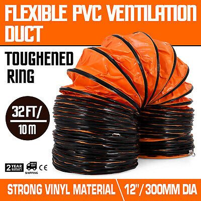 12 Pvc Flexible Ducting 32ft 9 8m Fit Ventilator Hoses Strong Flame Retardant 865473137468 Ebay In 2020 Flexible Duct Fans For Sale Pvc