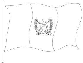 Colorear Dibujo De Bandera Nacional Guatemala Bandera De Guatemala Bandera Para Colorear Ensenanza De Colores