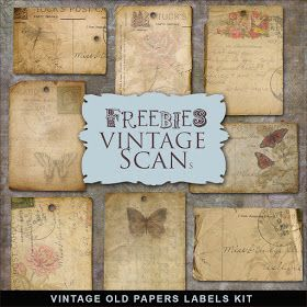 Far Far Hill Free Database Of Digital Illustrations And Papers Freebies Vintage Style Labels Kit Vintage Paper Vintage Labels Printable Paper
