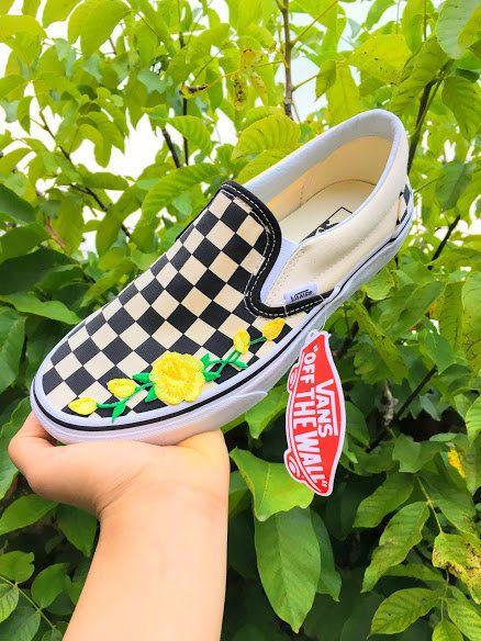 Custom Checkerboard Classic Slip-On