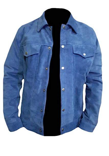 Classyak Men's Fashion Stylish Suede Leather Coat All Sizes