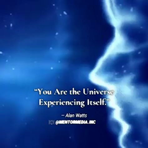 """🌠🌒🌟""""You are the universe experiencing itself."""" - Alan Watts • 👉🏻Follow 