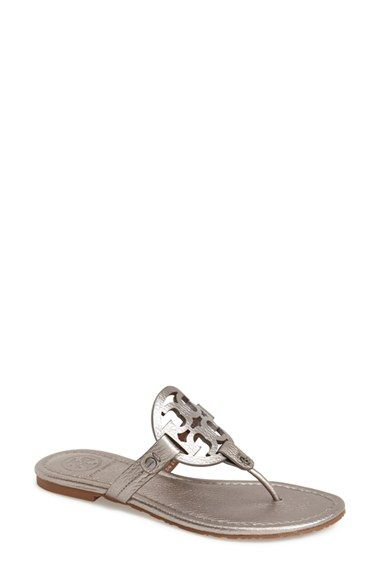 019c27eb642fe9 Tory Burch  Miller  Pewter Sandals -  195.00 (Sizes 5m - 11m)