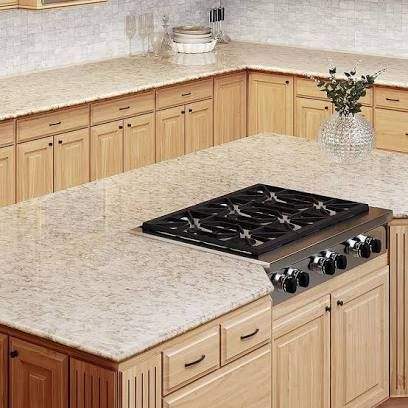 Maple Cabinets With White Granite Google Search In 2020 Maple Kitchen Cabinets Kitchen Countertop Samples Countertops