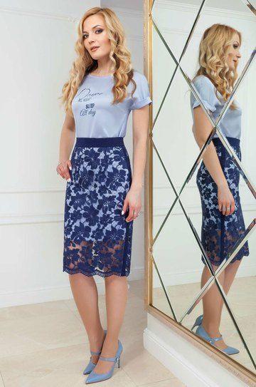 d0f88aaaaf7 Платье со съемной юбкой из кружевного полотна. Azzara  459