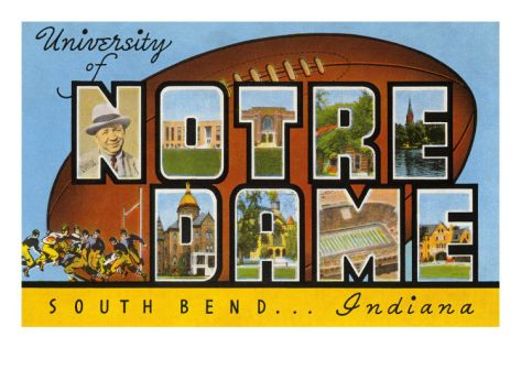 BOUGHT---  University of Notre Dame, South Bend, Indiana Premium Poster at Art.com