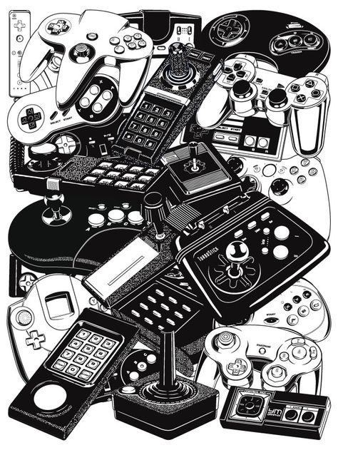 Retrogaming Joysticks Controllers
