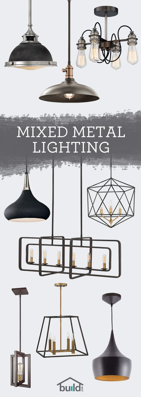 When it comes to lighting, don't be afraid to mix it up! Check out our beautiful lighting options with the latest mixed-metal trend at Build.com.