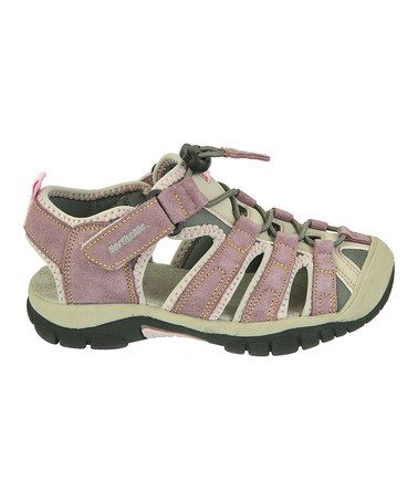 (Sizes T to kids, genuine suede. $13.99)  Pink Congo Sandal - Kids by Northside