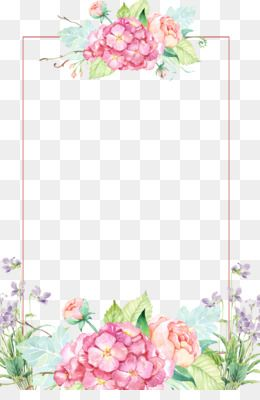 Flower Png Flower Transparent Clipart Free Download Wedding Invitation Watercolor Painting Flower Wate Flower Border Png Flower Border Watercolor Flowers