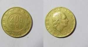 Valore Moneta 200 Lire Monet Monete